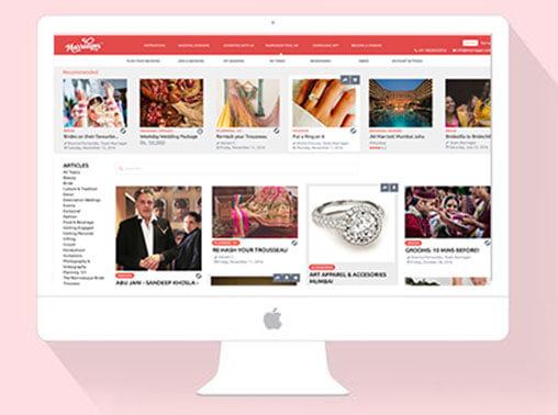 marriager custom website ui/ux and development