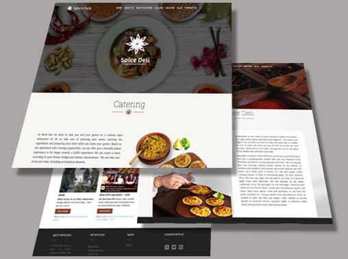 Spice Deli Wordpress Website UI/UX and development