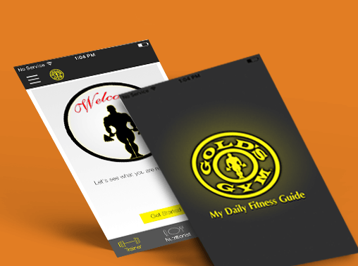 gold gym app ui/ux and development