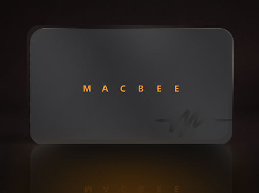 ui/ux - macbee visiting card